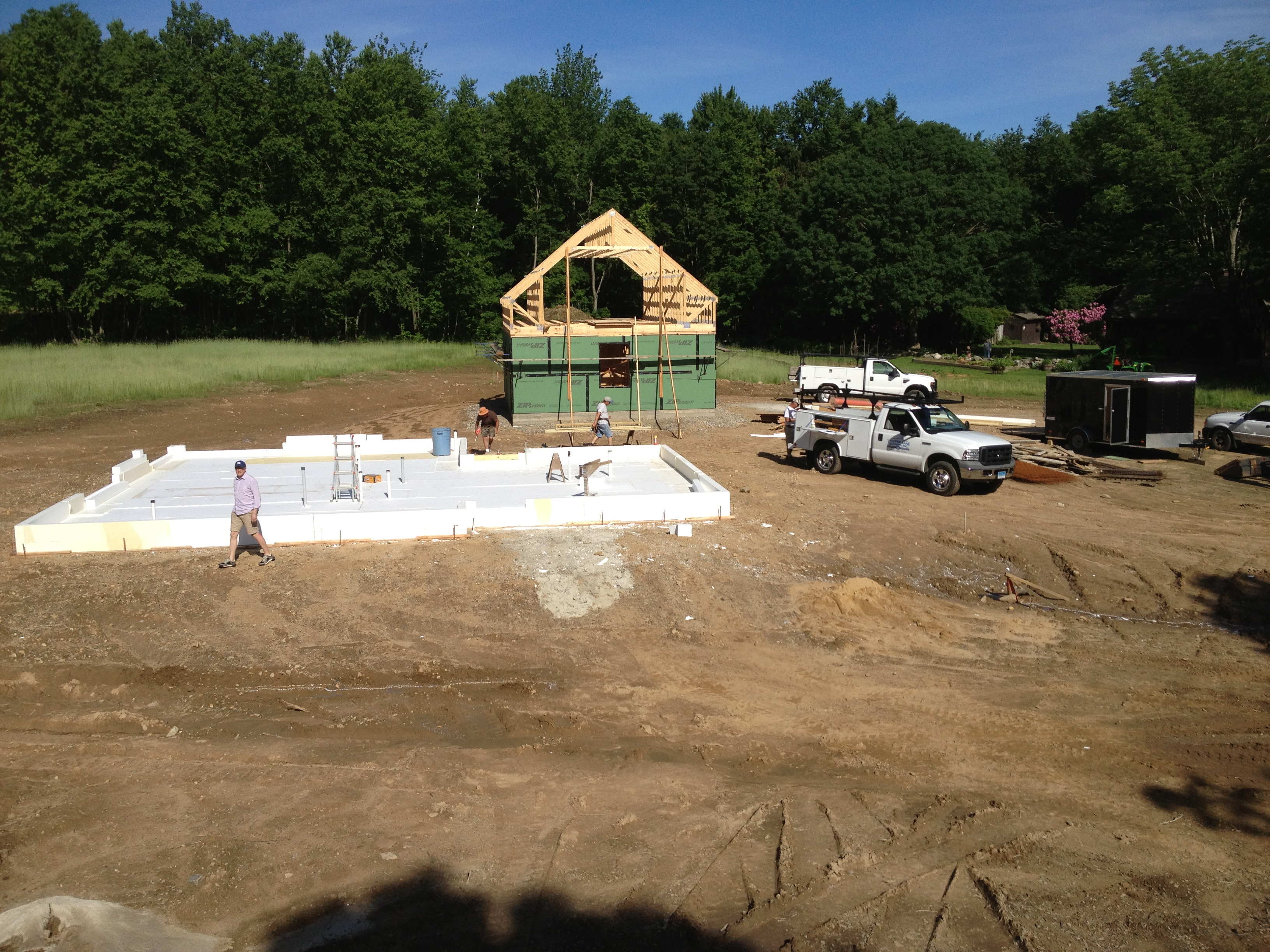 Preparing the slab hayfield house for Slab homes