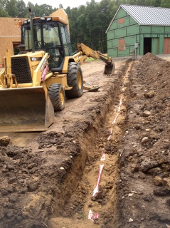 Trench for electrical lines