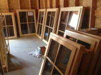 Windows uncrated, ready for installation this week