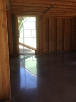 Polished concrete in the entry hall