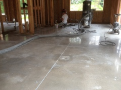 Concrete polishing, Day 4