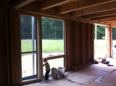 South-facing window/door that will be by our dining area.