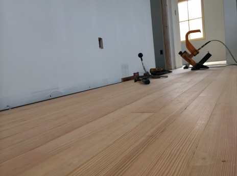 Upstairs hall flooring, douglas fir