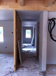 Looking from the living room to the mudroom.