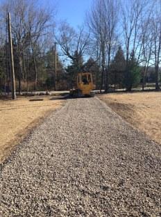 Driveway gravel.