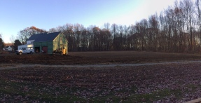 Grading nearly complete -- the yard looks huge now.