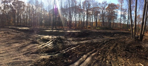 Leaching field installed, getting ready to create Steve's golf hole ;-)